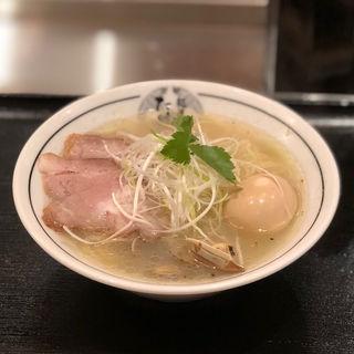 味玉淡麗あさり蕎麦(貝塩)(麺屋たけ井)