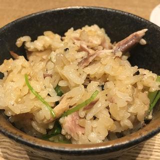 秋刀魚と松茸のココット御飯(BASSIN バサン)
