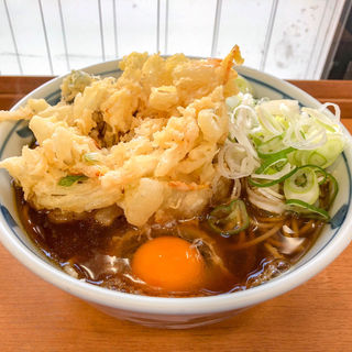 かき揚げ玉子そば・うどん(加賀)