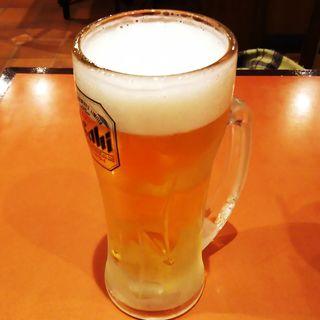 生ビール(中ジョッキ)(三代目 鳥メロ 元住吉西口店)