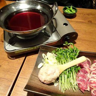 河内産鴨のしゃぶしゃぶ鍋(GOENYA(ゴエンヤ) 天王寺店)