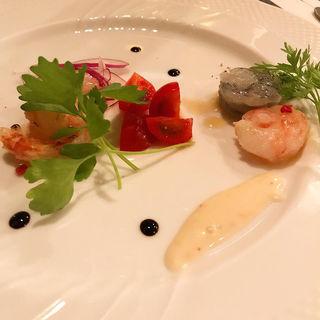 3種の海老のカルパッチョ(マダムシュリンプグレイス )