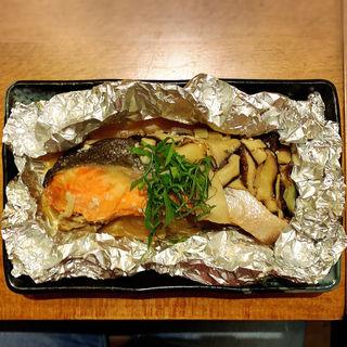 秋鮭と木の子のホイル焼き(喜口商店)