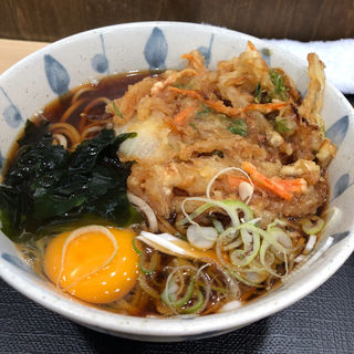 かき揚げ玉子そば(狭山そば 西新宿五丁目店 )