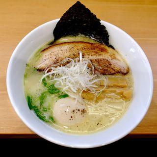 煮込み塩そば+半熟味付け玉子(らーめん工房 麺作)