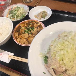 蒸し鶏のねぎソースがけ定食(香港亭 赤坂店 (ホンコンテイ))
