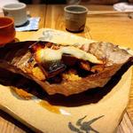 鯖みそ朴葉焼き