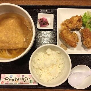 からあげセット+きつね大判(JUN大谷製麺処 (ジュンオオタニセイメンショ))