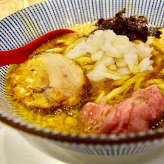 背脂醤油らー麺(焼きあご塩らー麺 たかはし 歌舞伎町店)