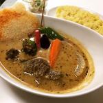 ビーフ野菜豆乳スープカレー(スパイススマイル (soup curry Spice×Smile))