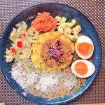 カレー定食2種盛(スパイスカレー青藍)