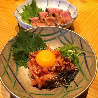 ユッケ(おでんと肉料理あんず家祇園石屋はなれ)