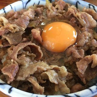 牛丼(生卵)(牛牛うどん )