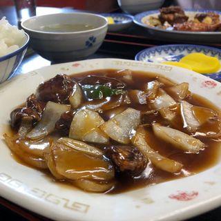 酢豚定食(スープ付)(小笹飯店)