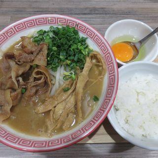 徳島ラーメン 全部増し 小+ごはん小(徳島ヌードル ぱどる)