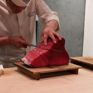 大間の本鮪(銀座 kappou ukai )