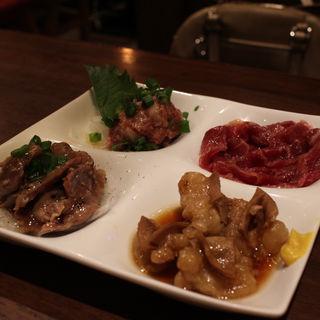 肉珍味四種盛り合わせ(大宮肉寿司)