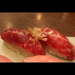 馬赤身の寿司(大宮肉寿司)