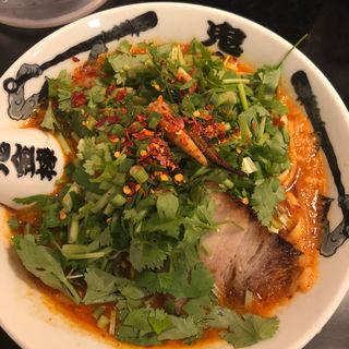 パクチーカラシビ味噌らー麺(カラシビ味噌らー麺 鬼金棒)