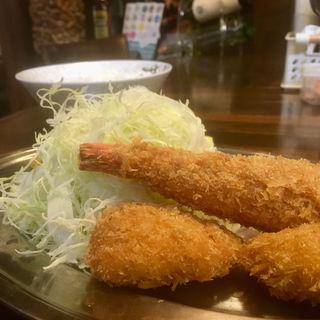 大エビフライ&カニクリームコロッケ盛り合わせ(くうかい (COOKAI))