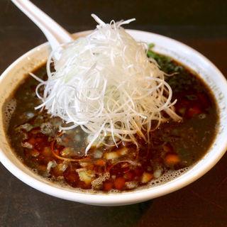 黒担々麺白髪ねぎトッピング(菊壱)
