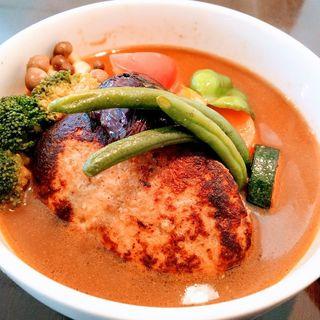 ハンバーグ野菜(ラッシー付き)(CURRY YA!CONG)