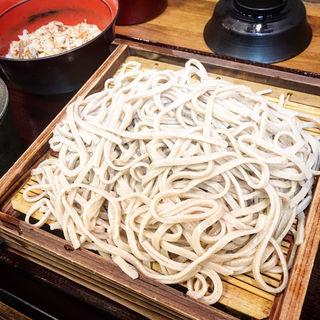 そば+あじ御飯セット(蕎麦 冷麦 嵯峨谷 (さがたに))