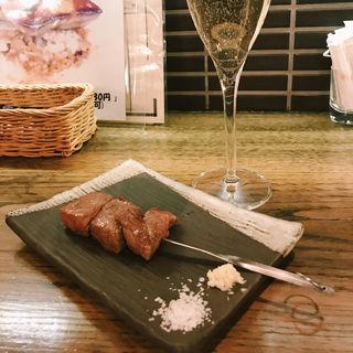 国産牛の串焼き(son-ju-cue (村塾))
