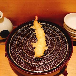海老の天ぷら(百舌亭)