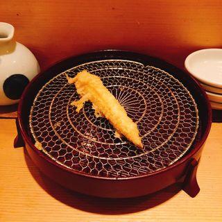 ヤングコーンの天ぷら(百舌亭)