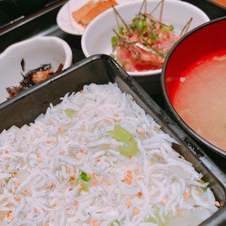 しらす丼(日本料理 岩戸 銀座店)
