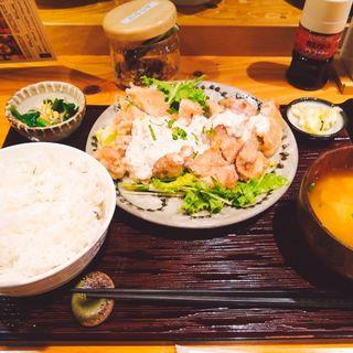 チキン南蛮定食(九州料理 居酒屋 かてて 茅場町店)