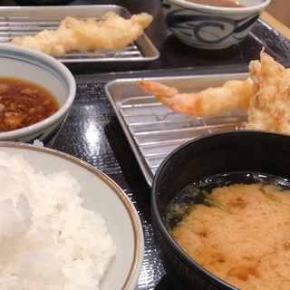 天ぷら定食 玉子天つき(天ぷらまきの センタープラザ店)