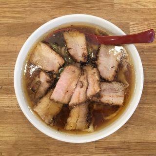 肉そば(麺や七彩)