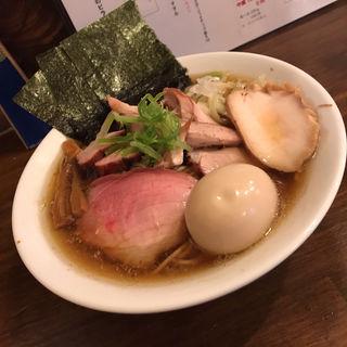 鶏コク生姜醤油そば 全部乗せ(煮干専門中華蕎麦 平八)