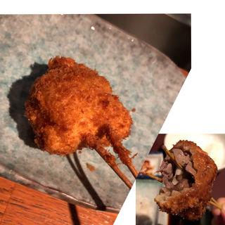 舞茸とバターの牛肉巻(串揚げ)(串揚げ ふくみみ)