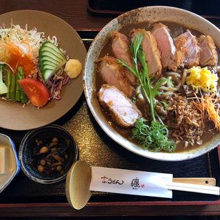 カツカレーうどん定食(京うどん纏)