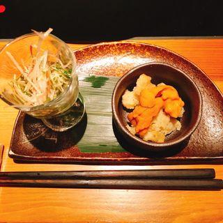 比内亭の酒肴2種(恵比寿  比内亭)