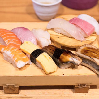上にぎりセット+穴子一本(魚路 (トトロ))