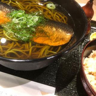 にしん蕎麦+かやくご飯付き(伊藤久右衞門 宇治駅前店)