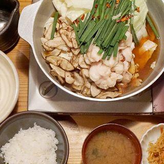 もつ鍋定食(博多もつ鍋 やまや 月庭 西中洲店)