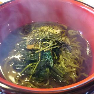 モロヘイヤ蕎麦(農家レストランゆう菜家)