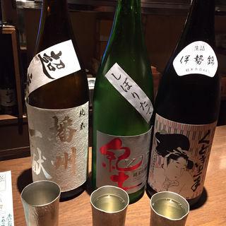 日本酒(播州一献、紀土ひやおろし、口説き上手)(ぽんしゅや三徳六味)