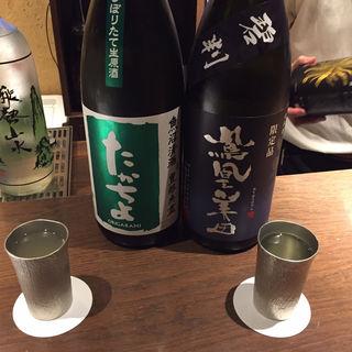 日本酒(鳳凰美田、たかちよ)(ぽんしゅや三徳六味)