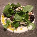 牡蠣と原木椎茸のフリカッセ