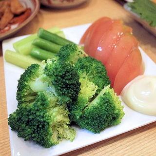 ブロッコリー&トマト&アスパラ(須賀乃湯)