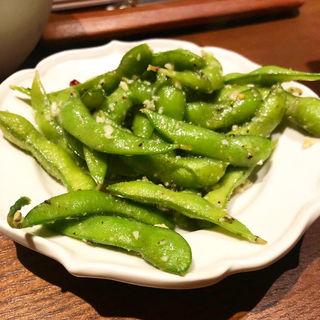 枝豆ペペロンチーノ(炭火とワイン 烏丸店)