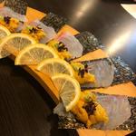鯛の雲丹巻き(旬味旬菜 大和)