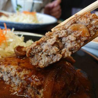 ハンバーグ定食(一富士 )