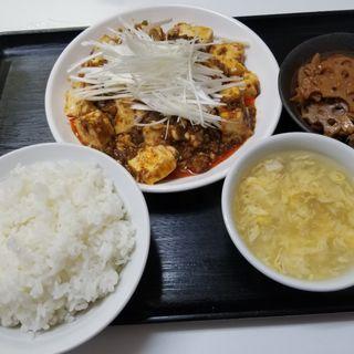 麻辣豆腐定食(中国北方料理 知味観 )